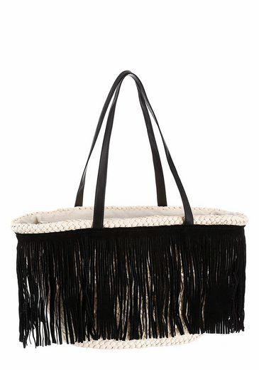 J.jayz Basket Bag, Fringed With