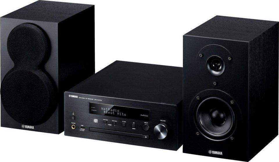 Yamaha MusicCast MCR-N470D Stereoanlage, Spotify/Napster/Juke, Airplay, Bluetooth, WLAN in schwarz