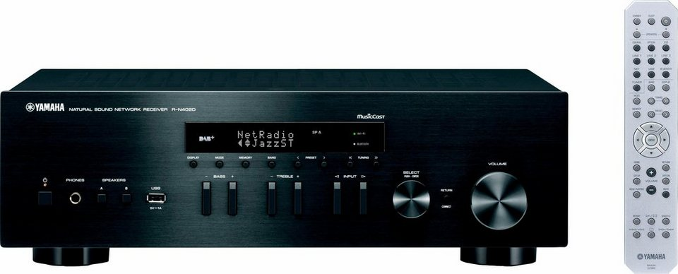 MusicCast R-N402D Audio-Receiver (Spotify Connect, Airplay, WLAN, Bluetooth) in schwarz