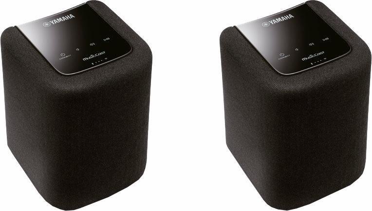 Yamaha MusicCast Twin 010 2.0 Lautsprecher-Set (Multiroom, Bluetooth, WiFi, Spotify) in schwarz