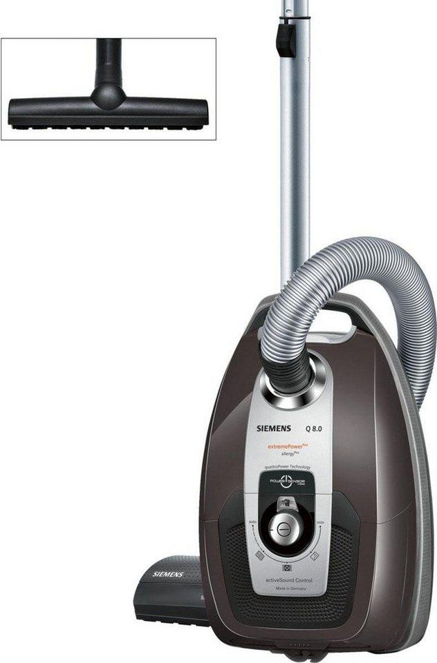 Siemens Bodenstaubsauger Q 8.0 extremePower Plus VSQ8532S, Energieklasse A in taupe-weiß-aluminium