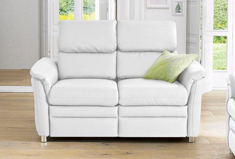 RAUM.ID 2-Sitzer, wahlweise mit Relaxfunktion und Rückenverstellung in weiß