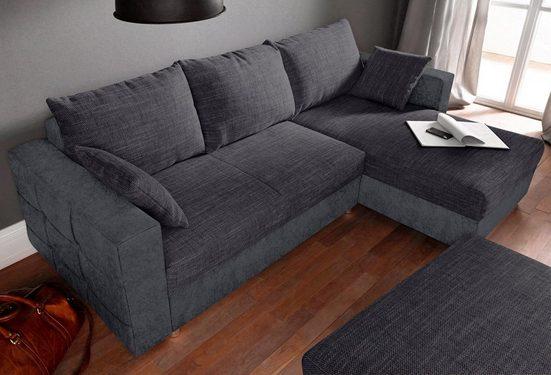 sit&more Ecksofa, inklusive Bettfunktion und Bettkasten