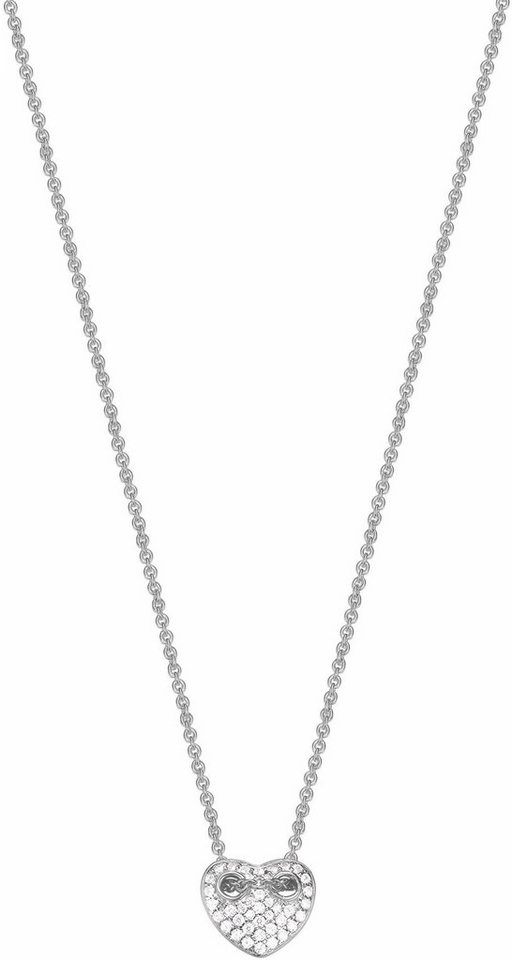 Esprit Kette mit Anhänger »Herz, ESPRIT-JW52893, ESNL93445A420« mit Zirkonia in Silber 925