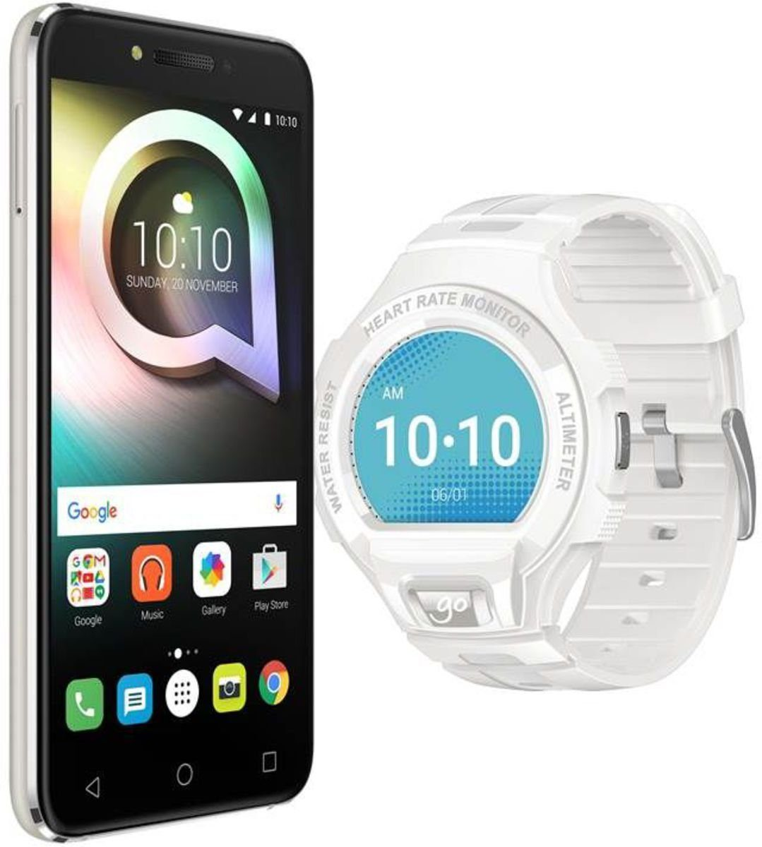 Alcatel Smartphone »SHINE lite 5080X + GO watch SM03«