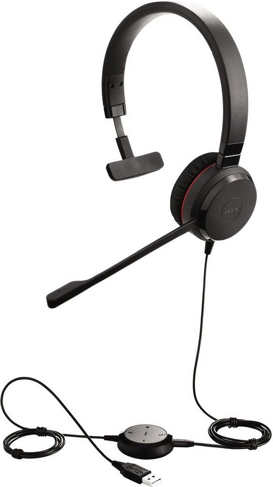 Jabra Headset »Evolve 30 II MS monaural USB« in Schwarz