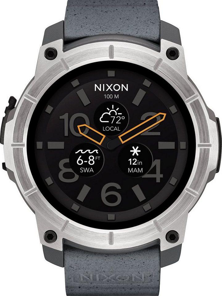 Nixon Smartwatch »Mission« in Grau
