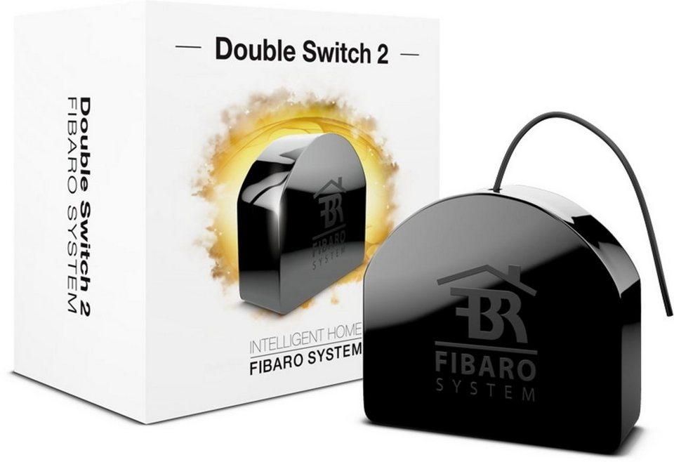 Fibaro Smart Home Zubehör »Relais Unterputzeinsatz 2 Schalter - Z-Wave« in Schwarz