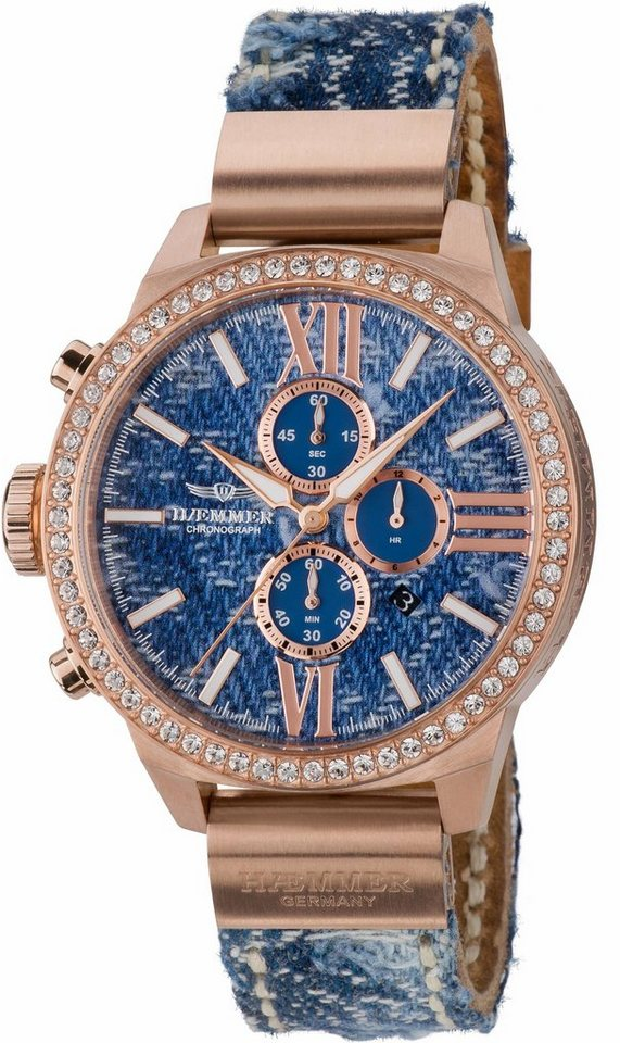 HAEMMER GERMANY Chronograph »JEANI, DSC-08« in jeansblau