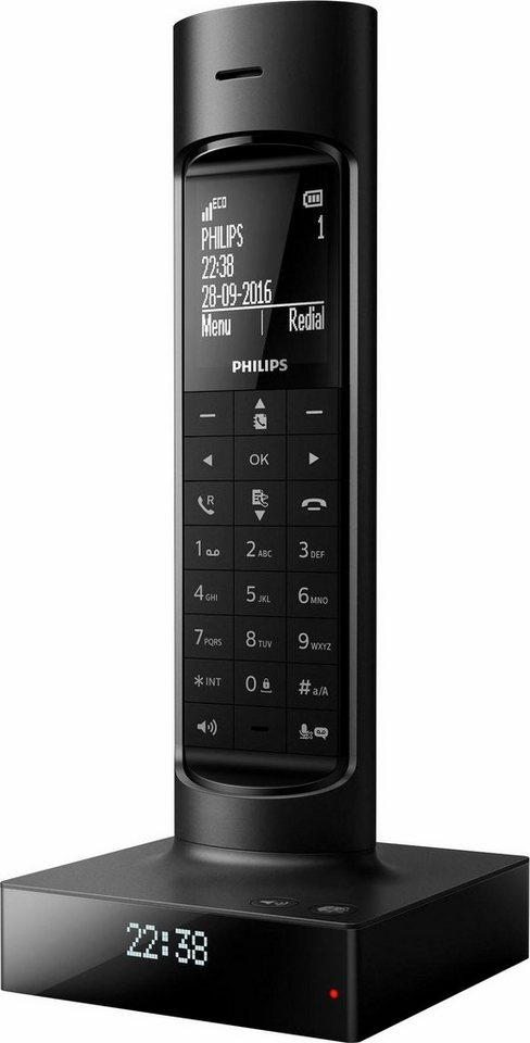 Philips Faro Design DECT Telefon in schwarz