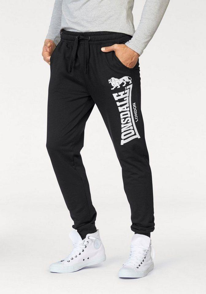 Lonsdale Jogginghose »SCRABSTER« in schwarz