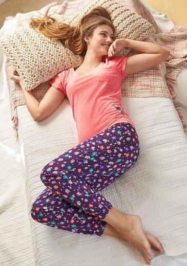 Vivance Dreams Pyjamahose mit Allovermuster