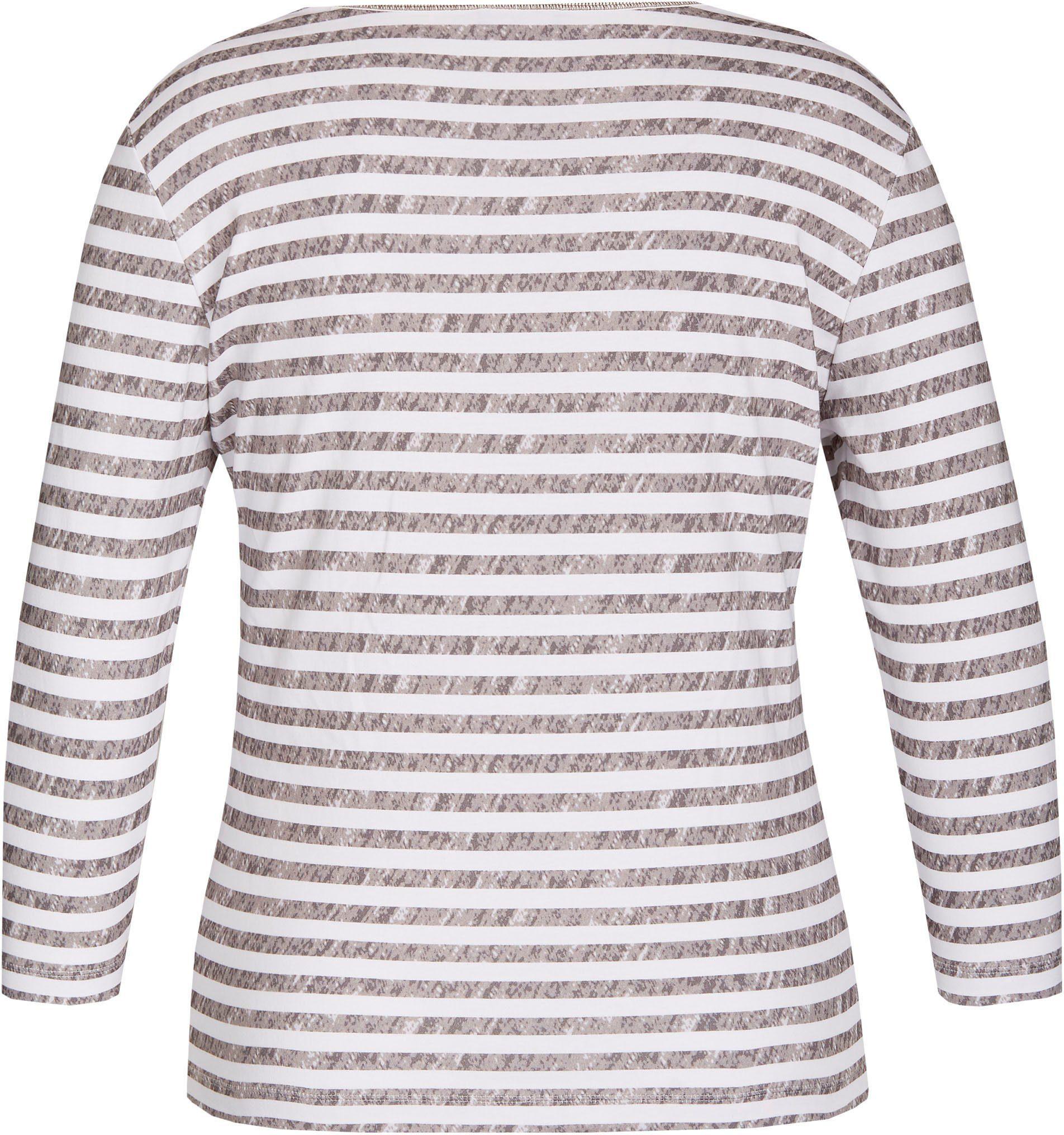 Rabe Print-Shirt, Feminines Shirt mit Ringeln in Melange-Optik