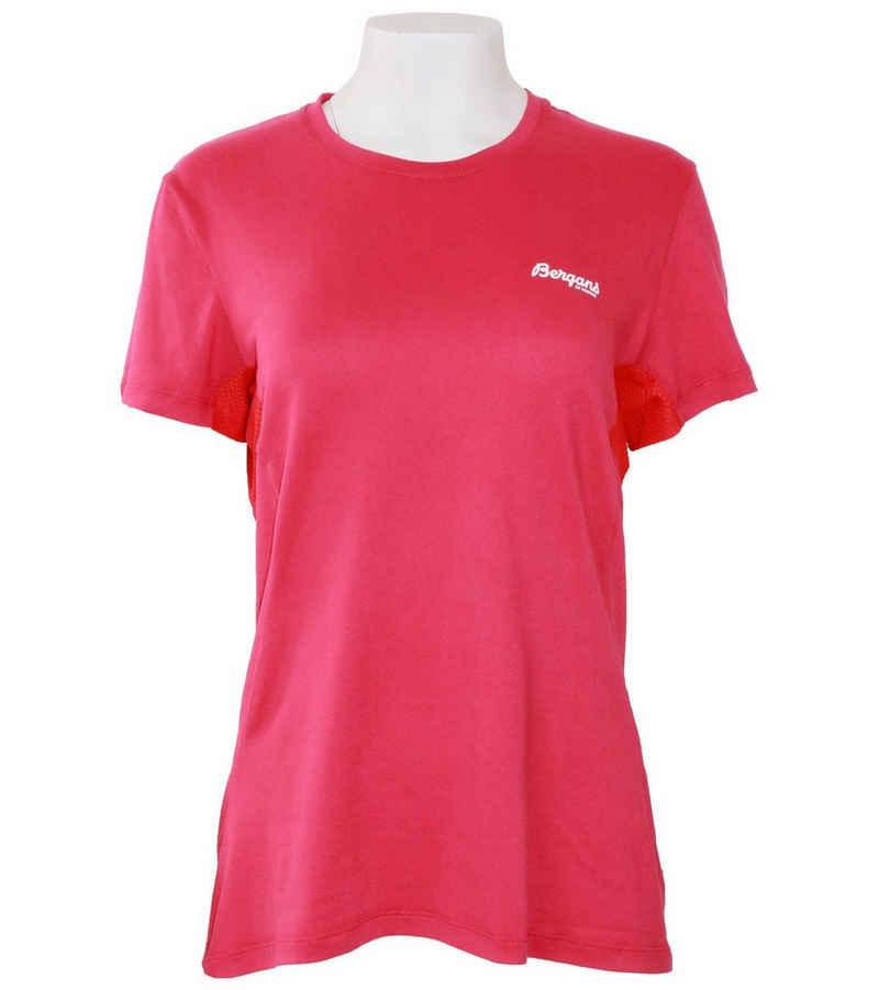 Bergans Kurzarmshirt »Bergans Fløyen Sommer-Shirt leichtes Damen Freizeit-T-Shirt Sport-Shirt Beere/Rot«