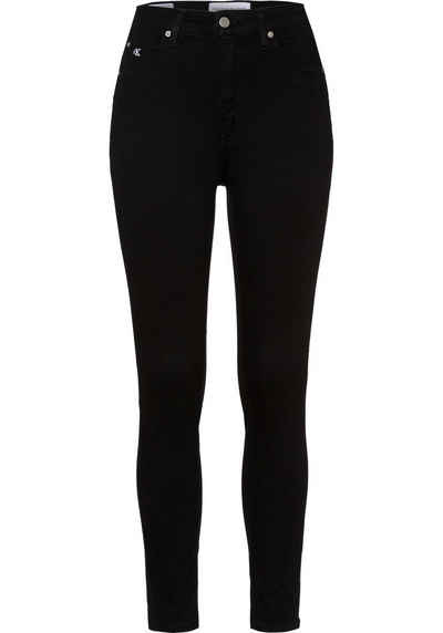 Calvin Klein Jeans Skinny-fit-Jeans »HIGH RISE SUPER SKINNY ANKLE« mit Calvin Klein Jeans Logo-Schriftzug am Saum