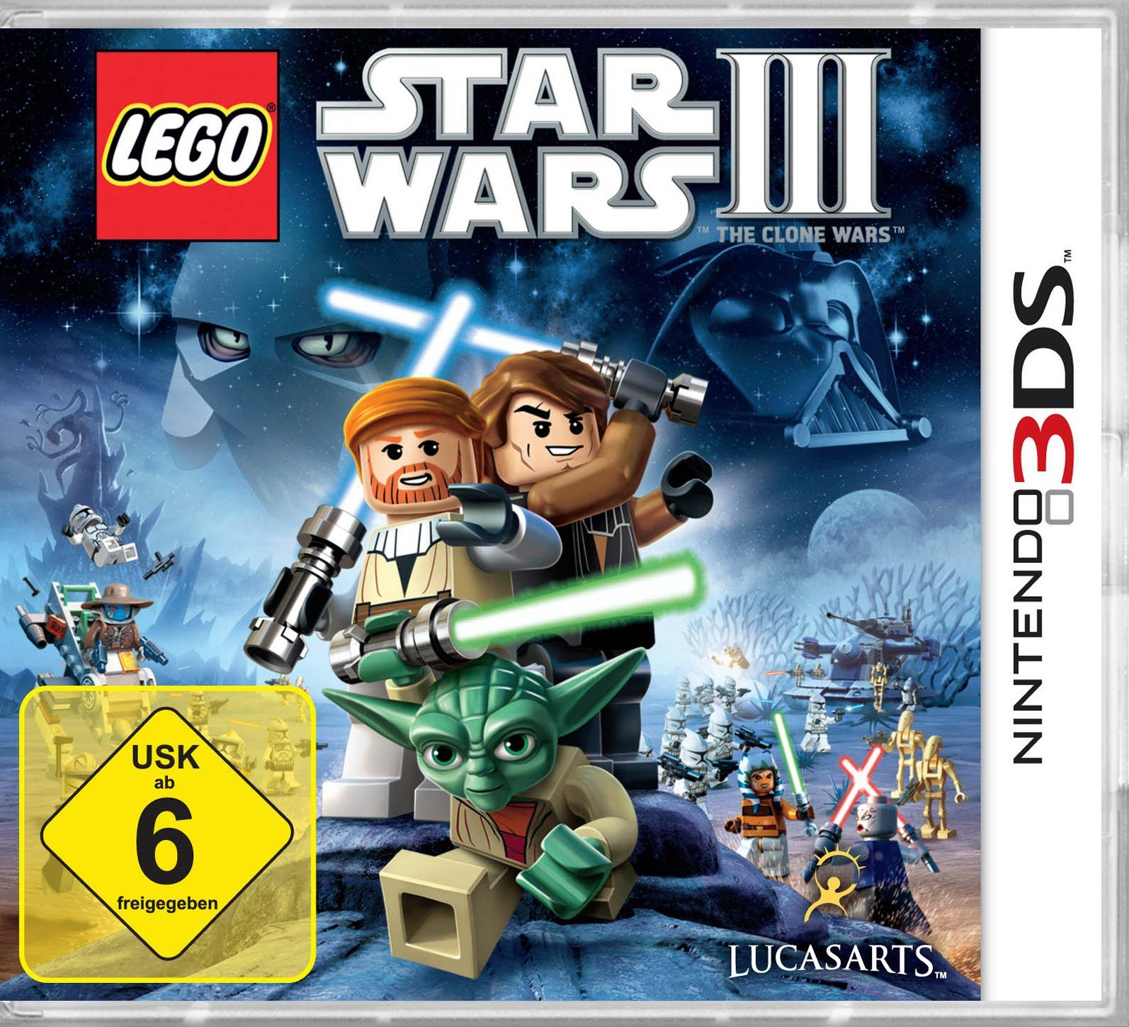 DISNEY Software Pyramide - Nintendo 3DS Spiel »LEGO Star Wars 3 - The Clone Wars«