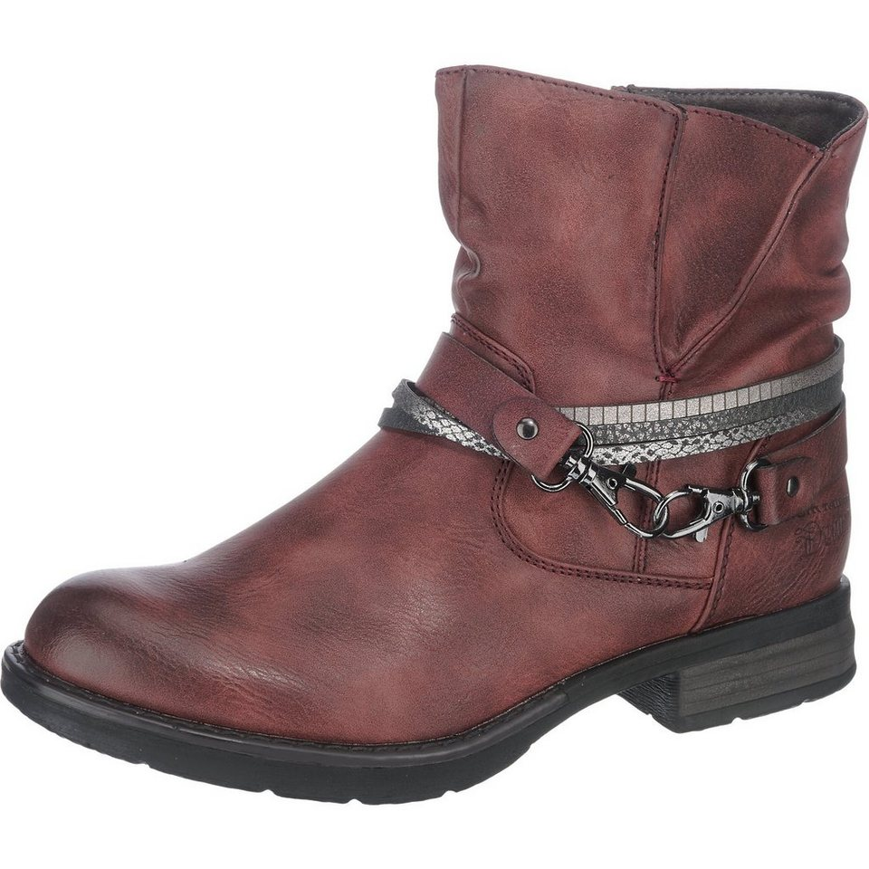 TOM TAILOR Stiefeletten in bordeaux
