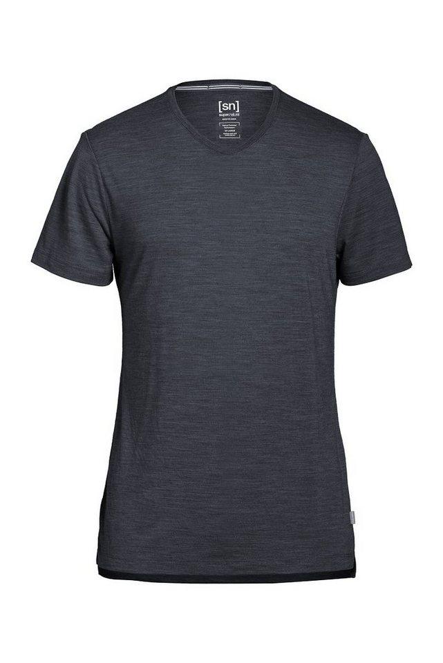 Super.Natural Merino T-Shirt »M ASHER TEE« in CAVIAR MEL