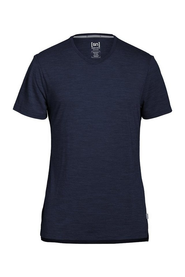 Super.Natural Merino T-Shirt »M ASHER TEE« in NAVY BLAZER MEL