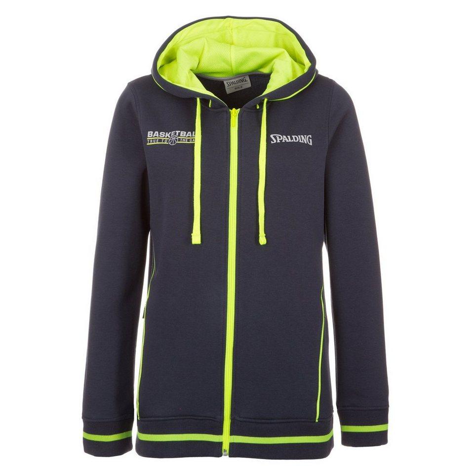 SPALDING TEAM Jacket 4her Damen in marine/fluo gelb