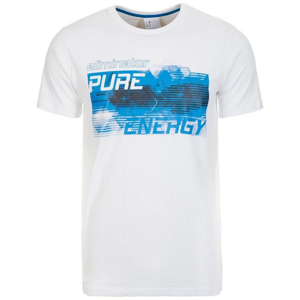 UHLSPORT Pure Energy T-Shirt Herren in weiß / energy blau
