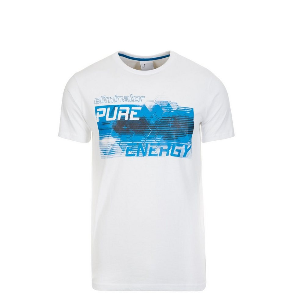 UHLSPORT Pure Energy T-Shirt Kinder in weiß / energy blau