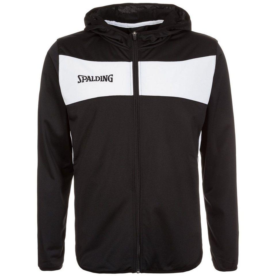 SPALDING Evolution II Classic Kapuzenjacke Herren in schwarz / weiß