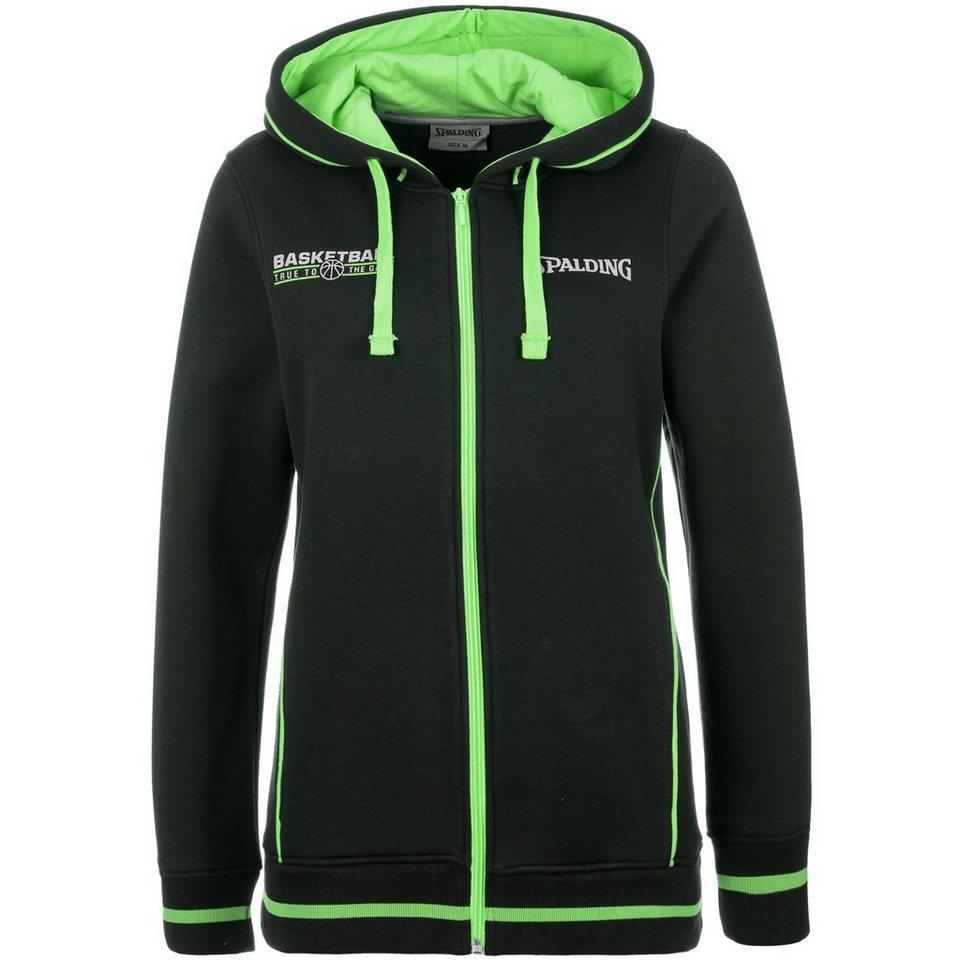 SPALDING TEAM Jacket 4her Damen in schwarz/grün flash