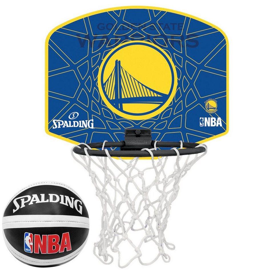 SPALDING NBA Golden State Warriors Miniboard in gelb / blau