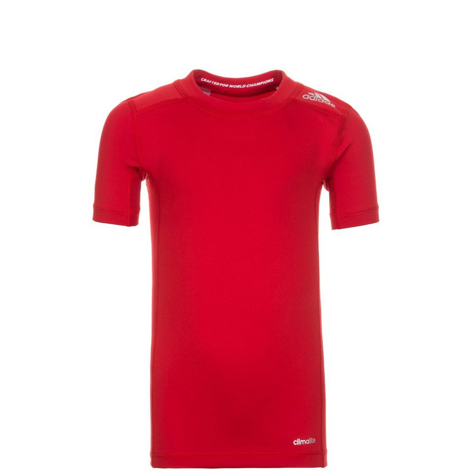 adidas Performance TechFit Base Trainingsshirt Kinder in rot