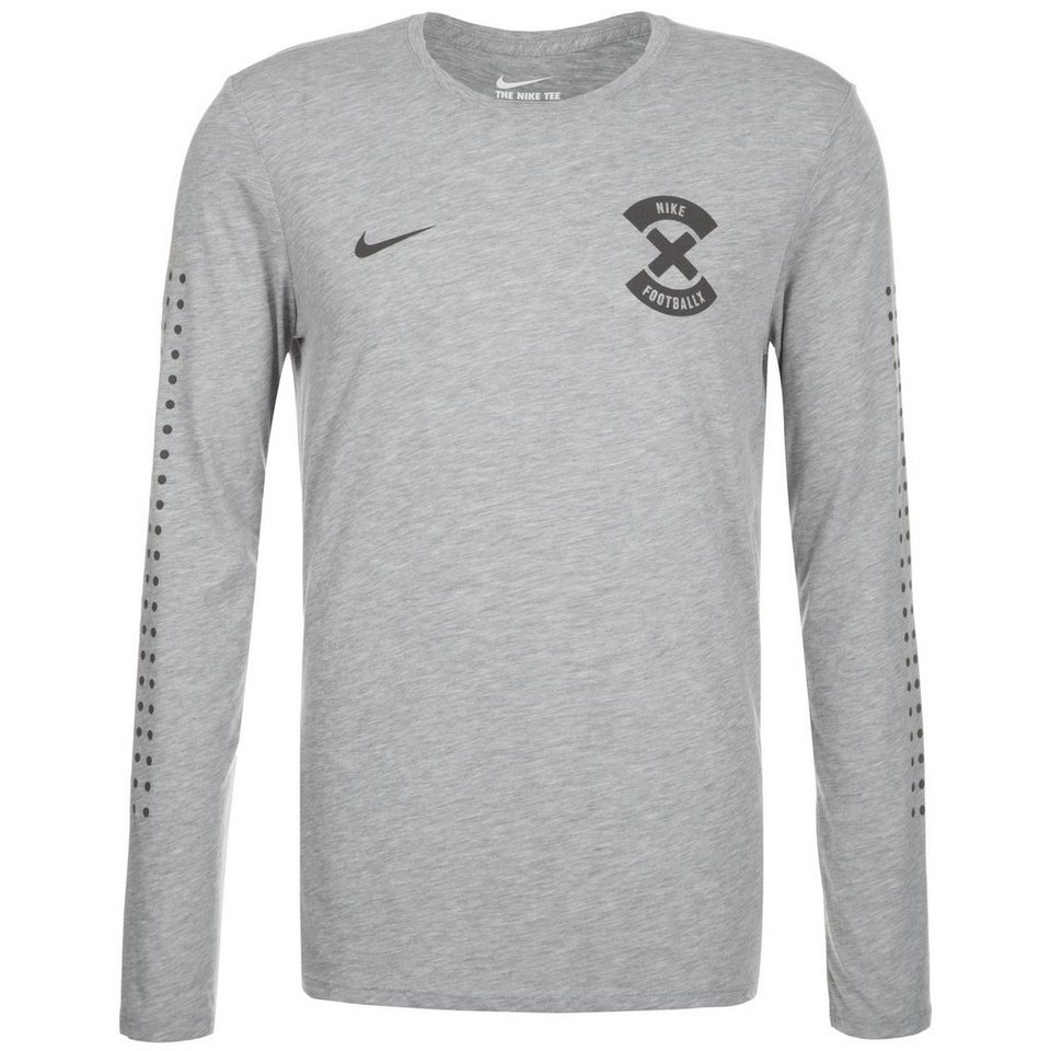NIKE Football X Name And Number Longsleeve Herren in grau