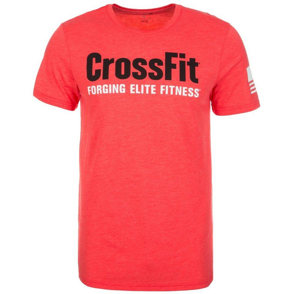 REEBOK CrossFit Forging Elite Fitness Trainingsshirt Herren in hellrot / schwarz
