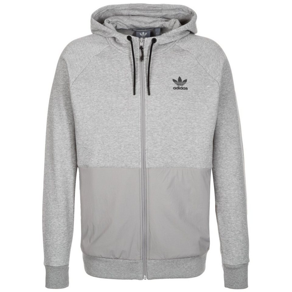 adidas Originals Sport Luxe Mix Kapuzenjacke Herren in grau / schwarz