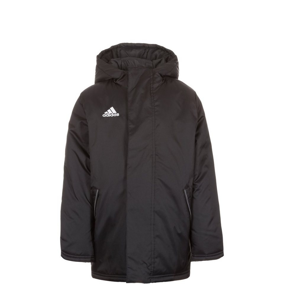 adidas Performance Core 15 Stadionjacke Kinder in schwarz / weiß