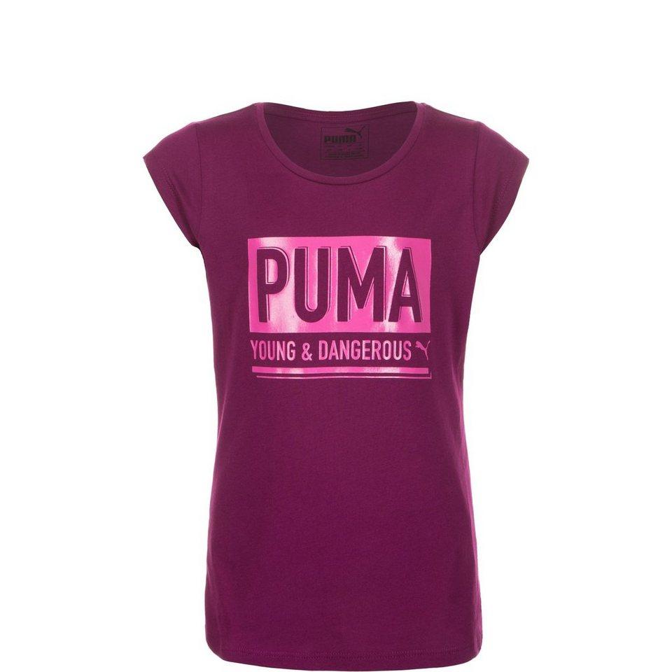 PUMA Dangerous Trainingsshirt Kinder in fuchsia / pink