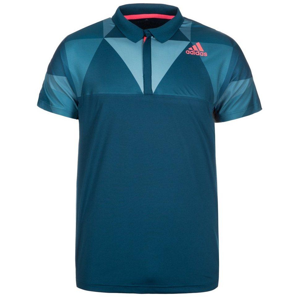 adidas Performance Multifaceted Pro Tennispolo Herren in blau / neonrot