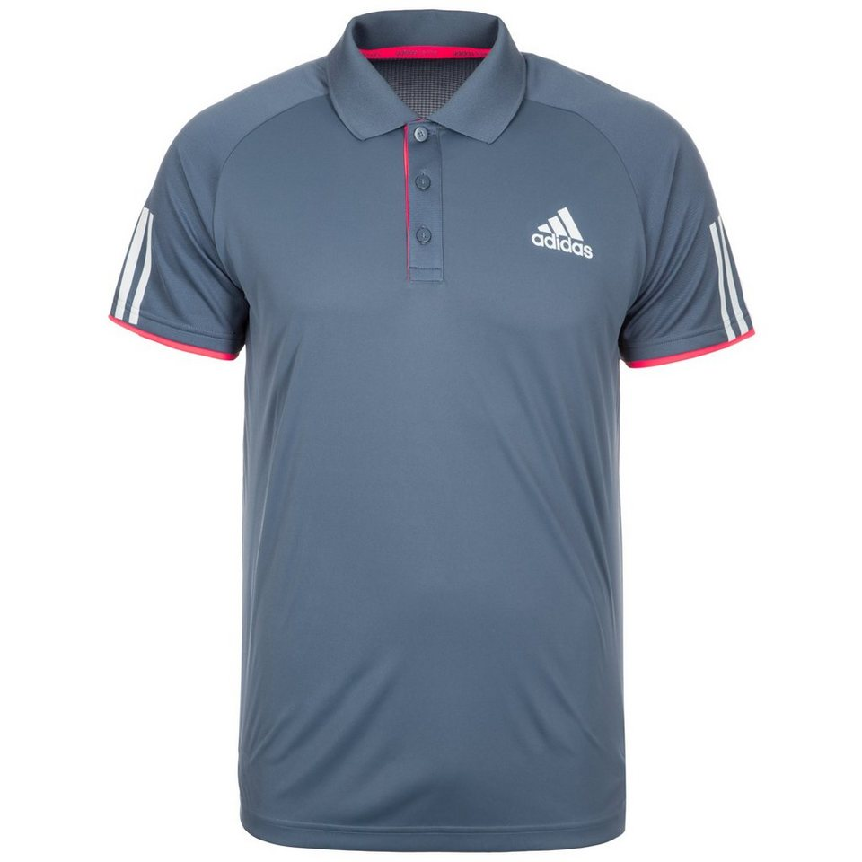 adidas Performance Club Tennispolo Herren in blaugrau / koral