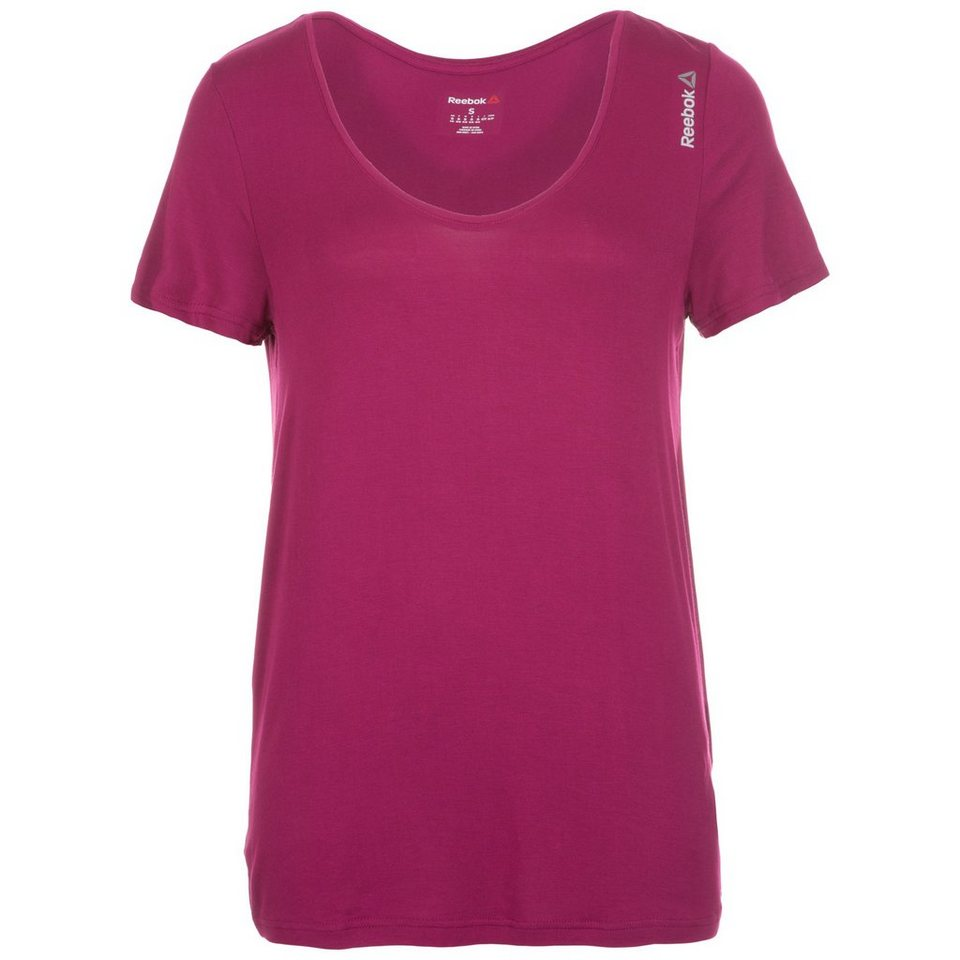 REEBOK Studio Favorites Trainingsshirt Damen in fuchsia