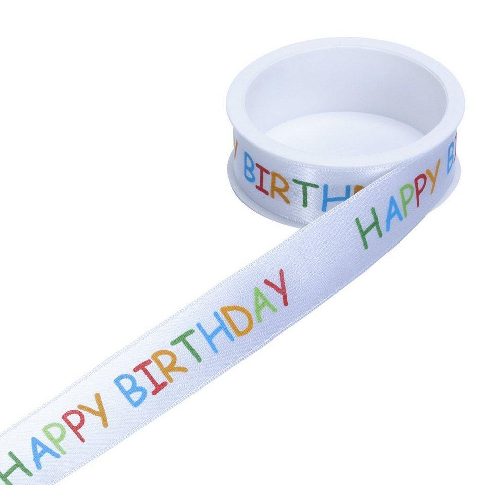 BUTLERS RIBBON »Geschenkband Happy Birthday« in bunt