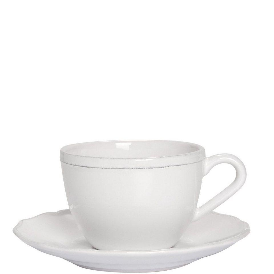 BUTLERS EATON PLACE »Kaffeetasse mit Untertasse« in Weiß