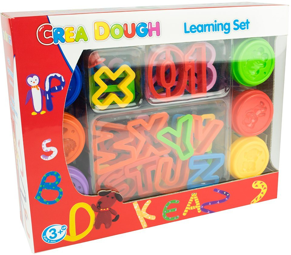 Knetmasse Set, »Crea Dough Learning Set«
