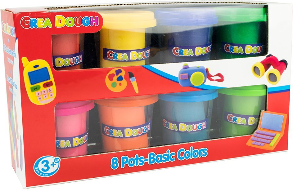 Knetmasse Set, »Crea Dough 8 Pots Basic Colors«