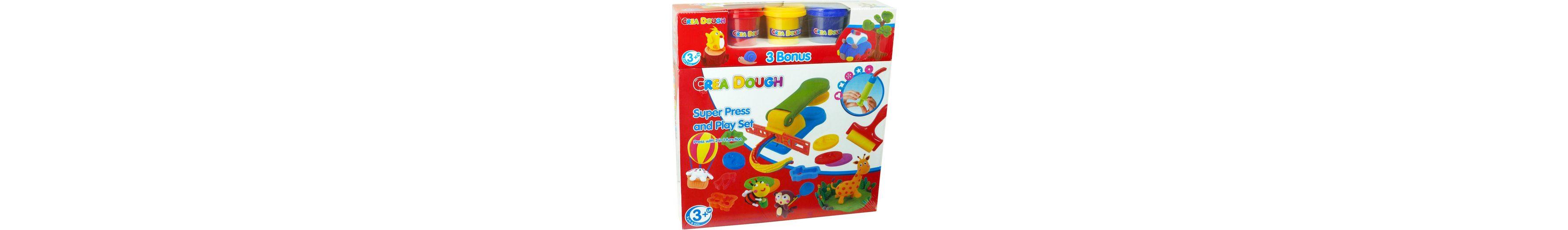 Knetmasse Set, »Crea Dough Super Press and Play Set«