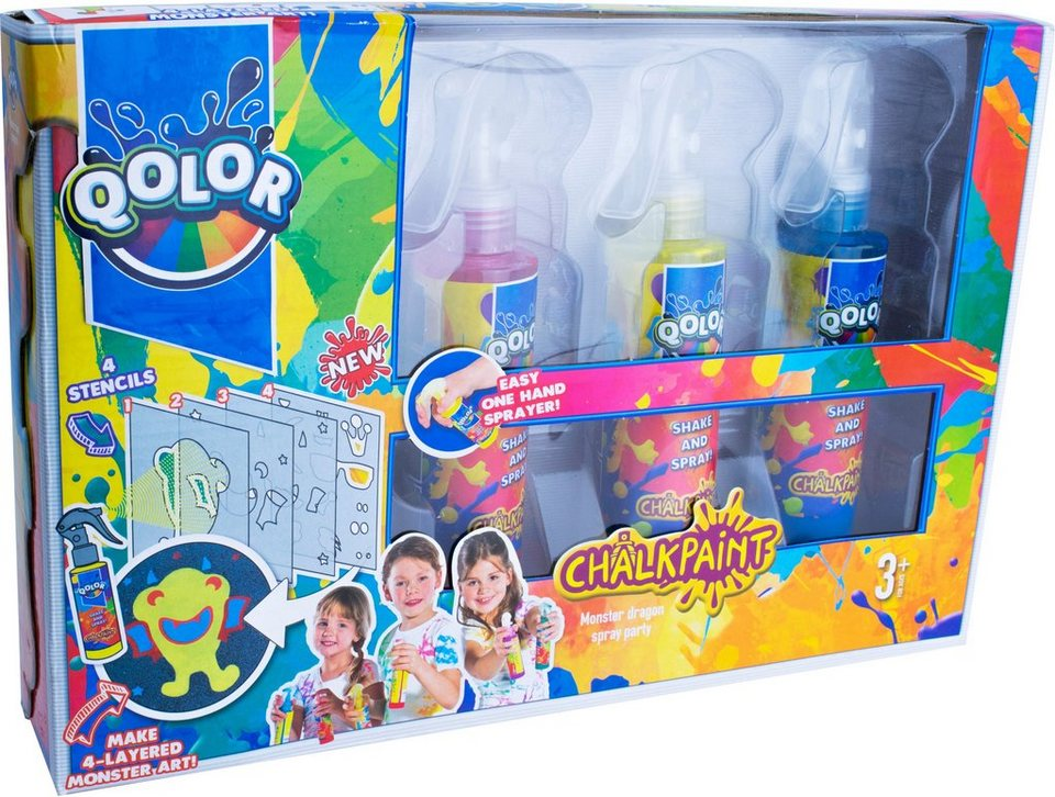 Kreidespray Set, »Qolor Chalkpaint Monster dragon spray party«
