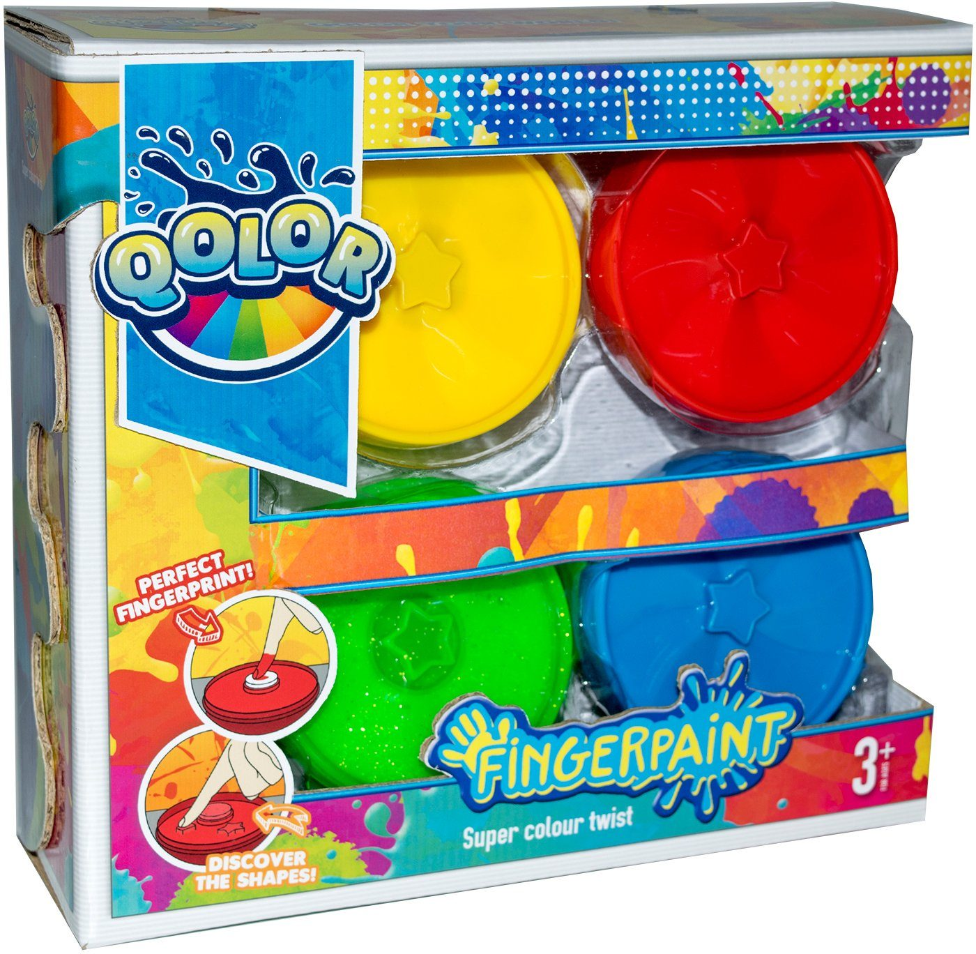 Fingerfarben Set, »Qolor Fingerpaint Super colour twist«