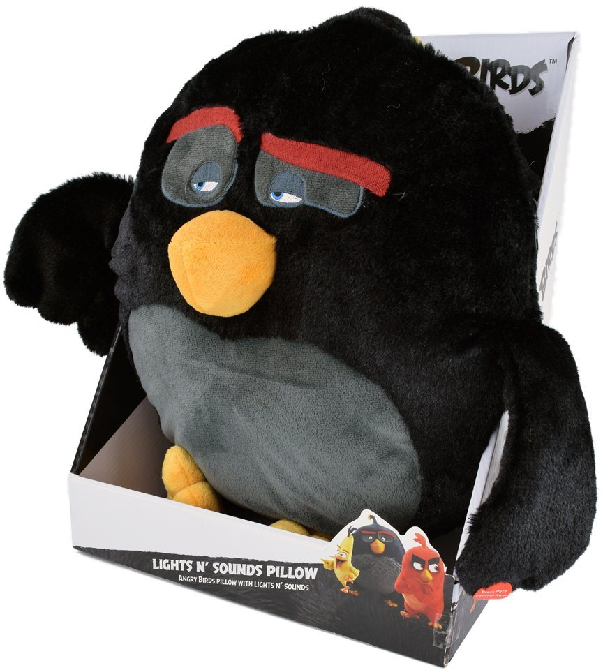 Stofftier mit Licht- und Soundfunktion ca. 35 cm, »Angry Birds™ Bomb Pillow Light and Sound«