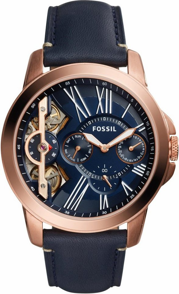 Fossil Multifunktionsuhr »GRANT, ME1162« in blau