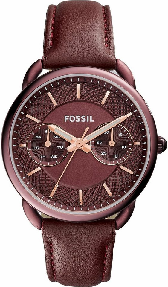 Fossil Multifunktionsuhr »TAILOR, ES4121« in weinrot