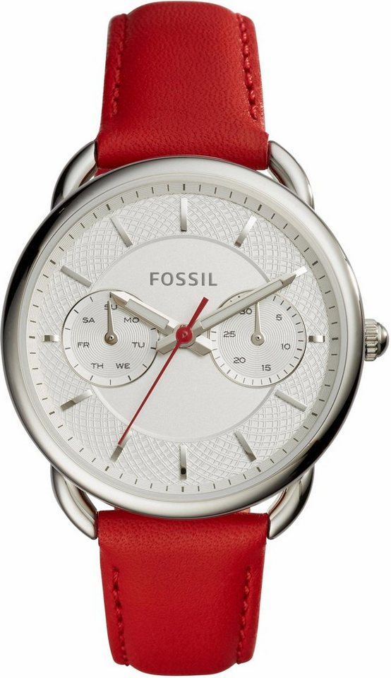 Fossil Multifunktionsuhr »TAILOR, ES4122« in rot