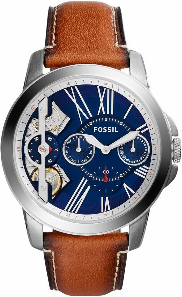 Fossil Multifunktionsuhr »GRANT, ME1161« in hellbraun